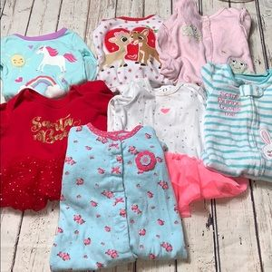 Other - Baby Girl 9 Month Pajama Lot